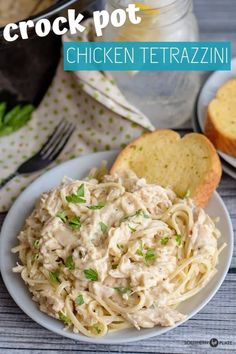 crockpot chicken easy Crock Pot Chicken Tetrazzini- And Changing Our Focus - Southern Plate Slow Cooked Meals, Crock Pot Slow Cooker, Crock Pot Cooking, Slow Cooker Chicken, Slow Cooker Recipes, Cooking Recipes, Crockpot Recipes, Crock Pot Pasta, Chicken Crock Pot Meals