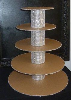 5 tier bling rustic glam faux rhinestone by aprincesspractically, $89.00