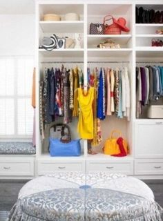 Need more closet space? Consider making sure your new home or remodel includes a walk in closet. A walk-in closet can hold all your clothing and shoes neat and tidy within a large room to walk around. Master Closet, Walk In Closet, Closet Storage, Closet Organization, Custom Closet Design, Dream Closets, Neat And Tidy, Closet Space, Closet Ideas