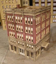 Ho Scale Building Lunde Studios Bon Ton Built & Weathered Structure