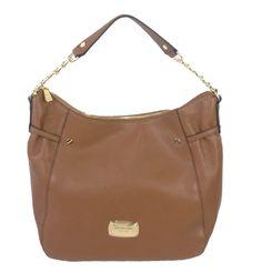 03928b82cf Michael Kors Megan Large Top Zip Leather Shoulder Bag