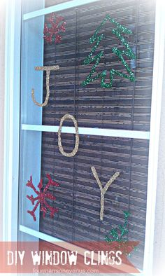 Four Marrs and One Venus: DIY Window Clings