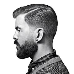 """The Executive Contour with beard trim as shown step by step on the Schorem DVD... Groomed with the Green Reuzel... #barber #bertus #beardtrim #barberlove…"""