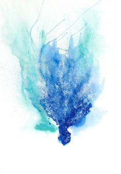 Watercolor coral on white background in blue. This piece has a mate, Gorgonia X. Coral Watercolor, Folly Beach, Coral Blue, Dog Art, Artist At Work, Tatoos, Abstract, Dogs, Artwork