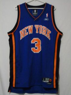 Vtg Stephon Marbury Jersey Large Reebok New York Knicks Stitched Blue from $34.95