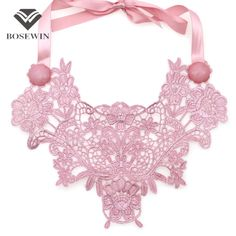 Women Handmade Flower Necklace 2016 Neon Color Choker Weave Yarn Collar Statement Necklaces Charm Jewelry New Accessories CE4010