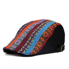 Cheap Estilo bohemio Boinas moda hombres y mujeres sombreros étnico tapas  Vintage Boinas Gorras sombrero Unisex 0959d47b573