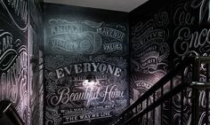 Andaz 5th Ave Chalkboard Typography, Chalk Lettering, Typography Letters, Typography Design, Chalkboard Walls, Black Chalkboard, 5th Avenue New York, Weird Pictures, Home And Deco