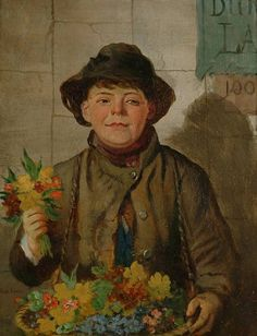 Robert Kemm (1837-1895)-'the little flower seller'
