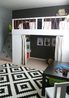 Loft bed for teenage girl girl loft bed ideas boys bunk beds kids loft bed ideas . loft bed for teenage Bunk Beds With Stairs, Kids Bunk Beds, Kids Beds Diy, Boys Bedroom Ideas Toddler Small, Boys Bedroom Ideas With Bunk Beds, Bunkbeds For Small Room, Boys Room Ideas, Little Boy Bedroom Ideas, Lofted Beds