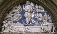 Luca della ROBBIA - Tympan de la Résurrection - Santa Maria del Fiore, Florence
