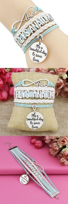 [Visit to Buy] Infinity Love  Bracelet CTLJJSSL0001 Greys Anatomy #Advertisement