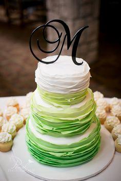 Ruffle Wedding Cake Image by ©PondPhotography   Flickr - Photo Sharing!