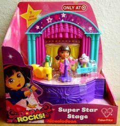 Fisher-Price Dora The Explorer: Dora Rocks Super Star Stage New Television, Bloom Winx Club, Newborn Toys, Dora The Explorer, Dolls For Sale, Super Star, Birthday List, Girls Bows, Fisher Price