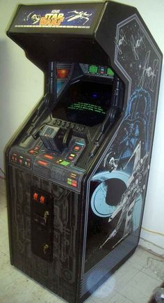 Star Wars Arcade: I flipped more quarters into this machine as a kid it was unre. Star Wars Arcade: I flipped more quarters into this machine as a kid it was unreal. With a full yok Vintage Video Games, Classic Video Games, Retro Video Games, Retro Games, Retro Arcade, Pinball, Arcade Games, Consoles, Borne Arcade
