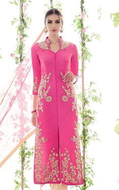 Picture of Mesmerizing Pink Finest Designer Salwar Kameez