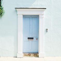 Pretty pastel door