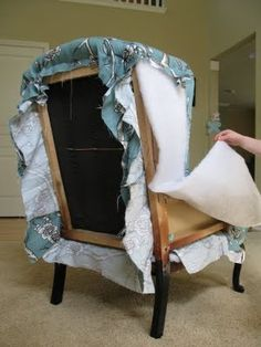 fantastic tutorial on how to reupholster a chair @naomiwong