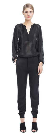 Jay Crinkled Silk Pants - Trousers - Shop Woman - Filippa K
