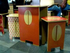 Printed flatpack mdf furniture.