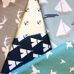 I am so excited to share a sneak peek at these new fabrics! More products to come soon ⚓️