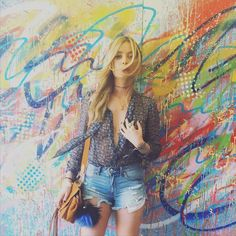 Laura Whitmore goes sheer in Paige Denim at Coachella.