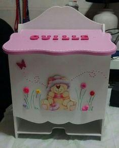 Caja -cajas-portaajuar Y Pañalera Fibrofacil Pintadas A Mano - $ 850,00 en Mercado Libre Decoupage Box, Baby Box, Toy Chest, Lunch Box, Baby Shower, Storage, Creative, Home Decor, Diaper Holder