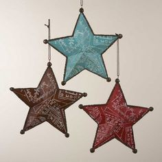 Pack of 6 Wild West Bandana Print Star Christmas Ornaments Western Christmas Decorations, Western Christmas Tree, Cowboy Christmas, Christmas Crafts For Kids, Country Christmas, Homemade Christmas, Christmas Themes, Christmas Holidays, Xmas Decorations