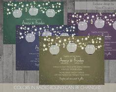Paper Lanterns Wedding Invitation Set Boho by NotedOccasions
