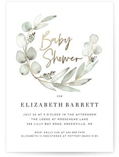 Eucalypta Foil-Pressed Baby Shower Invitations by . Eucalypta Foil-Pressed Baby Shower Invitations by . Foil-Pressed Baby Shower Invitations by Minted Boho Baby Shower, Shower Bebe, Baby Shower Gifts, Baby Shower Green, Elegant Baby Shower, Simple Baby Shower, Baby Shower Cards, Baby Shower Activities, Baby Shower Themes