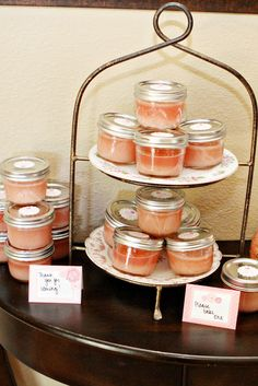 "Sugar Scrub | Baby Girl Vintage Tea Party Baby Shower | ""Sugar and spice and everything nice... that's what little girls are made of."""