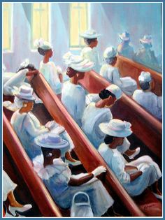 black art 12 Pieces of African American Church Art We Love Black Love Art, Black Girl Art, Caricatures, African American Artwork, Black Art Pictures, Black Church, Decoupage, Black Artwork, Afro Art