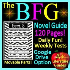 Digital Resource - Free up your time with The BFG, a 120 page Common-Core Aligned Complete Novel Study Guide. It can be used with or without Google Drive (Paperless OR Print and Go) Great for centers! This literature guide has everything that you will need to teach and assess the novel.
