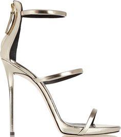 Giuseppe Zanotti - Coline metallic leather sandals from NET-A-PORTER. Black High Heel Sandals, Metallic Sandals, Black Leather Sandals, High Heels Stilettos, Metallic Leather, Pumps, Stiletto Heels, Shoes Sandals, Sandals Platform