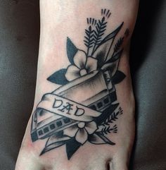 Check out these 50 incredible dad tattoo ideas at CafeMom for father-centric inspiration. The cool black and grey in this excellent tattoo by Meg Felix give the harmonica a realistic silvery look. Dad must be a musician! Father Tattoos, Dad Tattoos, Sleeve Tattoos, Music Tattoos, Tatoos, Incredible Tattoos, Beautiful Tattoos, Tattoos For Women Small, Small Tattoos