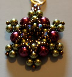 Beadweaving Kit 'Twilight' Pendant and Earring