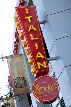 Italian (food) and Proud of it at The Strand in downtown Phoenix