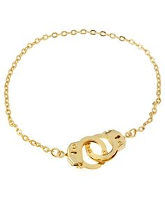 7925a91c53 Bee Charming Gold Handcuff Anklet Handcuff Jewelry
