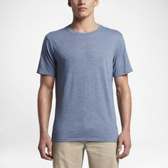 Hurley Tri-Blend Staple Men's T-Shirt Size XL (Blue) - Clearance Sale