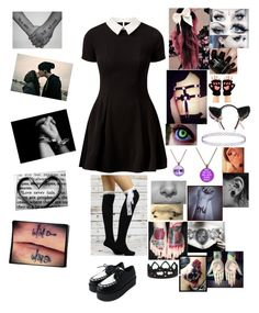 """""""Die For You-Black Veil Brides"""" by hold-on-till-may-lca ❤ liked on Polyvore featuring Cameo Rose, Betsey Johnson, Topshop and Nails Inc."""
