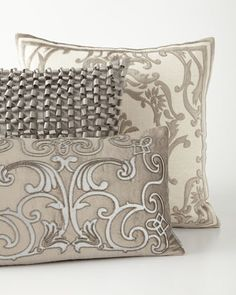 Gray+&+Pewter+Decorative+Pillows+by+Lili+Alessandra+at+Horchow.