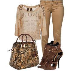 LOLO Moda: Beige look fashion style Estilo Fashion, Fashion Moda, Diva Fashion, Look Fashion, Womens Fashion, Fashion Trends, Fall Fashion, Fashion Blogs, Brown Fashion