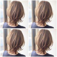 Pin on 髪型 Medium Hair Styles, Short Hair Styles, Glass Garden Art, Mullets, Dream Hair, Hair Looks, Hair Inspo, My Hair, Beauty Hacks