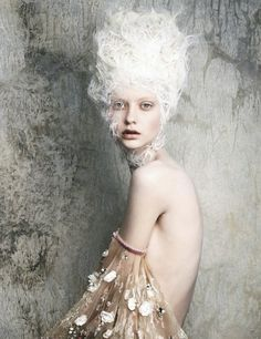 Like a Painting... beautiful fashion photography with soft textures & muted colours // Chanel Haute Couture Spring 2014