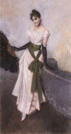Signorina Concha de Ossa  Artist: Giovanni Boldini  Completion Date: 1888  Style: Impressionism