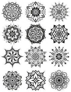 Mandala Coloring Pages White ink shoulder tattoo? Mandala Coloring Pages Mandala Tattoo Design, Dotwork Tattoo Mandala, Circular Tattoo Designs, Mandalas Painting, Mandalas Drawing, Mandala Coloring Pages, Zentangles, Henna Kunst, Henna Art