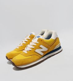 New Balance 574 70s - Yellow/White, Blue