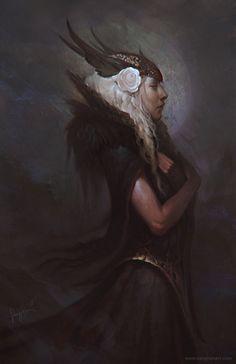 Dark Valkyrie by *fluxen on deviantart http://fluxen.deviantart.com/gallery/#/d41yif8