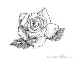 pointillism black and white rose. doodles, black and white, animation, wallpapers, roses, searching, blanco y negro, n white pointillism rose