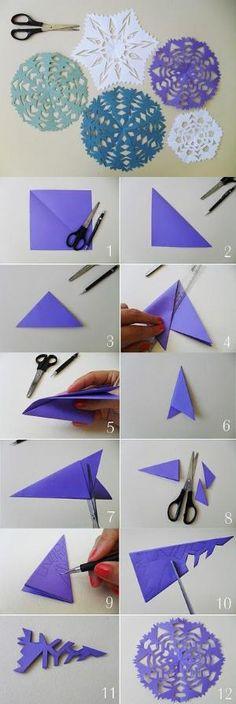 New Decor Christmas Diy Paper Snowflakes Ideas Origami Diy, Origami Paper, Diy Paper, Paper Art, Paper Crafts, Paper Toys, Origami Envelope, Art Crafts, Decor Crafts